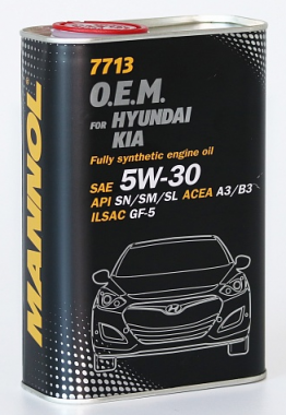 MANNOL 7713 O.E.M. 5W-30 for Hyundai Kia 1L metal