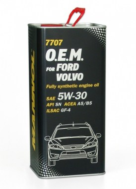 MANNOL 7707 O.E.M. 5W-30 for Ford Volvo 5L metal