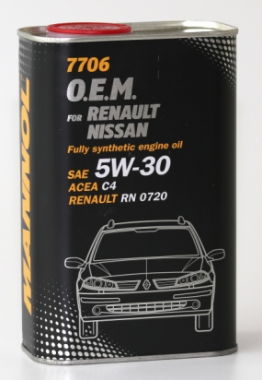 MANNOL 7706 O.E.M. 5W-30 for Renault Nissan 1L metal