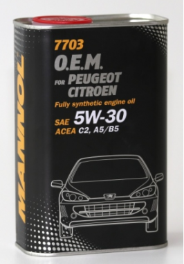 MANNOL 7703 O.E.M. 5W-30 for Peugeot Citroen 1L metal