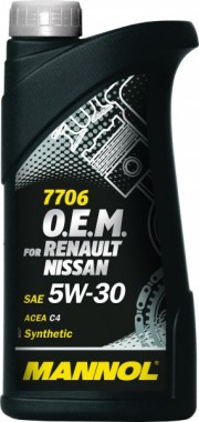 MANNOL for Renault Nissan 7706 O.E.M. 5W-30 1L